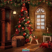 Backdrop - Traditional Christmas Setting