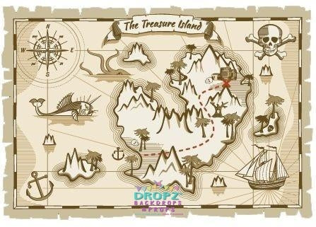 Backdrop - Treasure Island Map