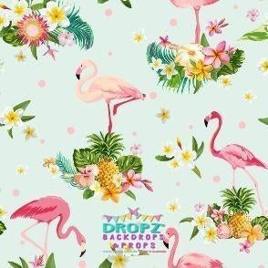 Backdrop - Tropical Flamingo Backdrop