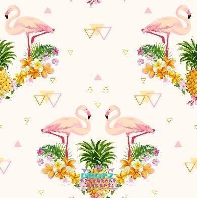 Backdrop - Tropical Flamingo Summer