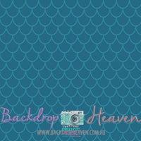 Backdrop - Turquoise Fish Scales