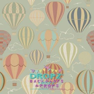 Backdrop - Vintage Hot Air Balloons