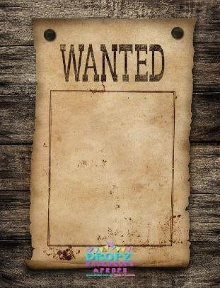 Backdrop - Wanted Poster Party Backdrop