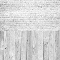Backdrop - White Wood & Brick