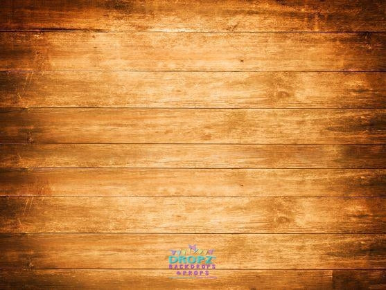 Backdrop - Wide Wood Golden Baby