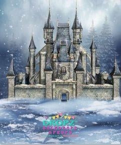Backdrop - Winter Snow Castle