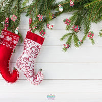 Backdrop - Xmas Stockings