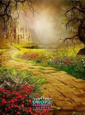 Backdrop - Yellow Brick Road Scene