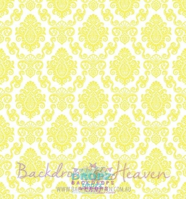 Backdrop - Yellow Damask