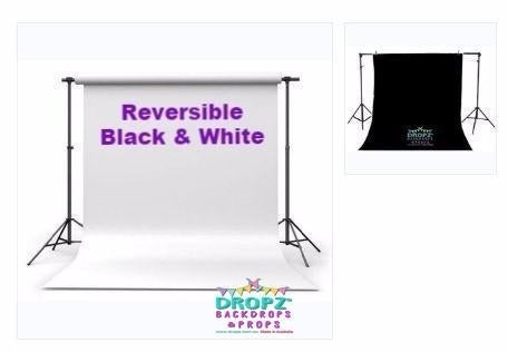 White And Black Photo Vinyl Dropz Backdrops Dropz