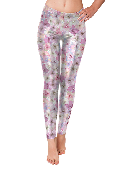 flowers+watercolor Pattern Leggings