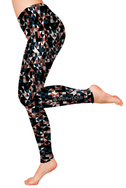 triangles+mosaic Pattern Leggings