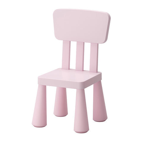10267560 MAMMUT Children's chair, light pink in/outdoor, light pink.