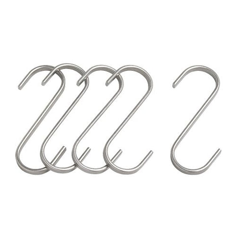 20176381 GRUNDTAL S-hook, stainless steel, 7 cm 5 pieces