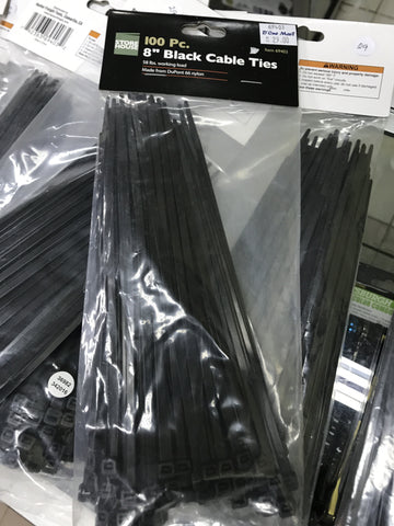 "792363694032  100pc 8"" Black Cable Ties"