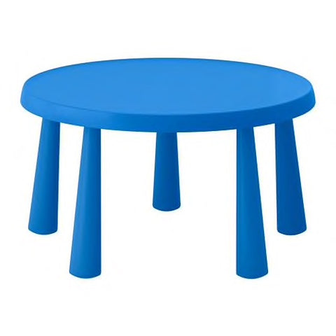 40365187 - MAMMUT Children's table, in/outdoor blue, 85 cm