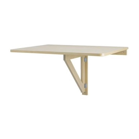 00162097 - NORBO Wall-mounted drop-leaf table, birch, 79x59 cm