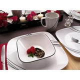Corelle 1069983  Simple Lines 16-Piece Vitrelle Dinnerware Set