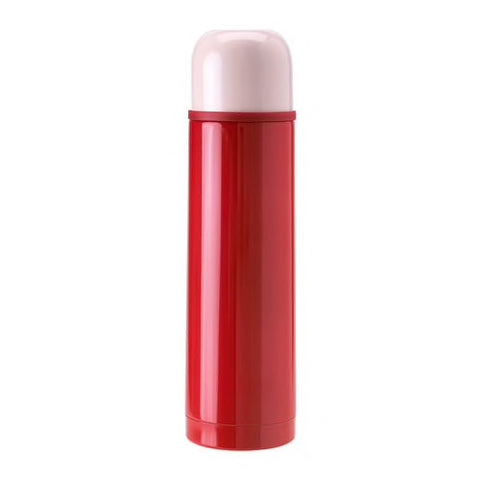 10292164 - HALSA Steel vacuum flask, red