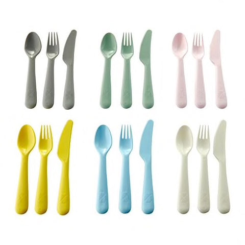 00378672 - KALAS 18-piece cutlery set, mixed colours assorted colours