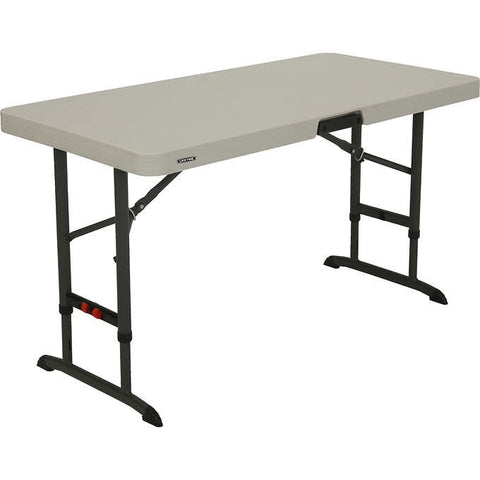 886092 - 4 Foot Commercial Adjustable Folding Table