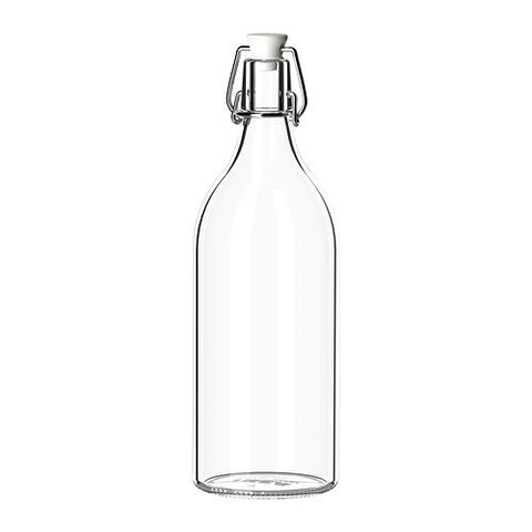00213558 - KORKEN Bottle with stopper, clear glass.