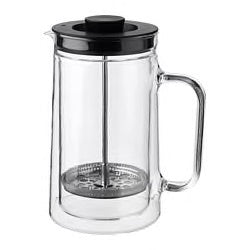 50358978 - EGENTLIG Coffee/tea maker, double-walled, clear glass, 0.9