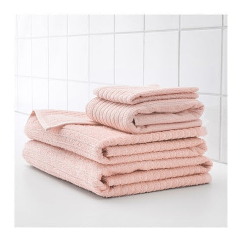 90353653 - VAGSJON Washcloth, pale pink, 30x30 cm /4 pieces