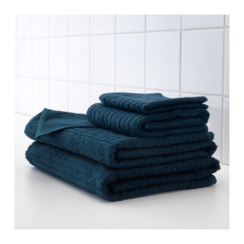 70353593 - VAGSJON Washcloth, dark blue, 30x30 cm /4 pieces