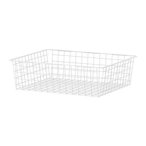 10177611 ANTONIUS Wire basket, white.