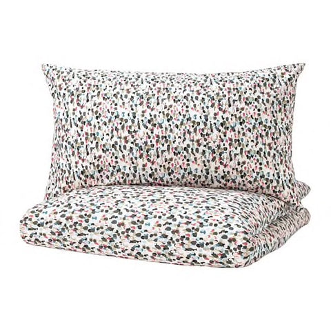 40337745 - SMASTARR Quilt cover and 4 pillowcases, dotted, multicolour