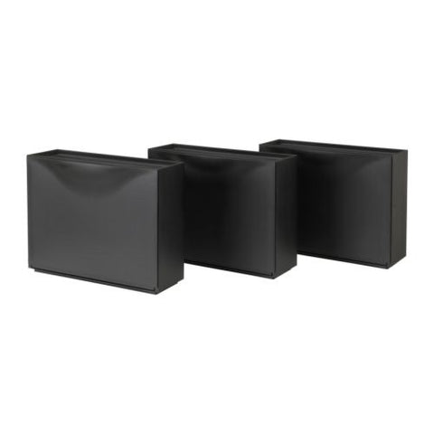 50181164 - TRONES Shoe cabinet/storage, black, 51x39 cm 3 pieces