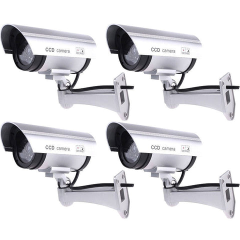 4 Pack IR Bullet Fake Dummy Surveillance Security Camera CCTV /& Record Light