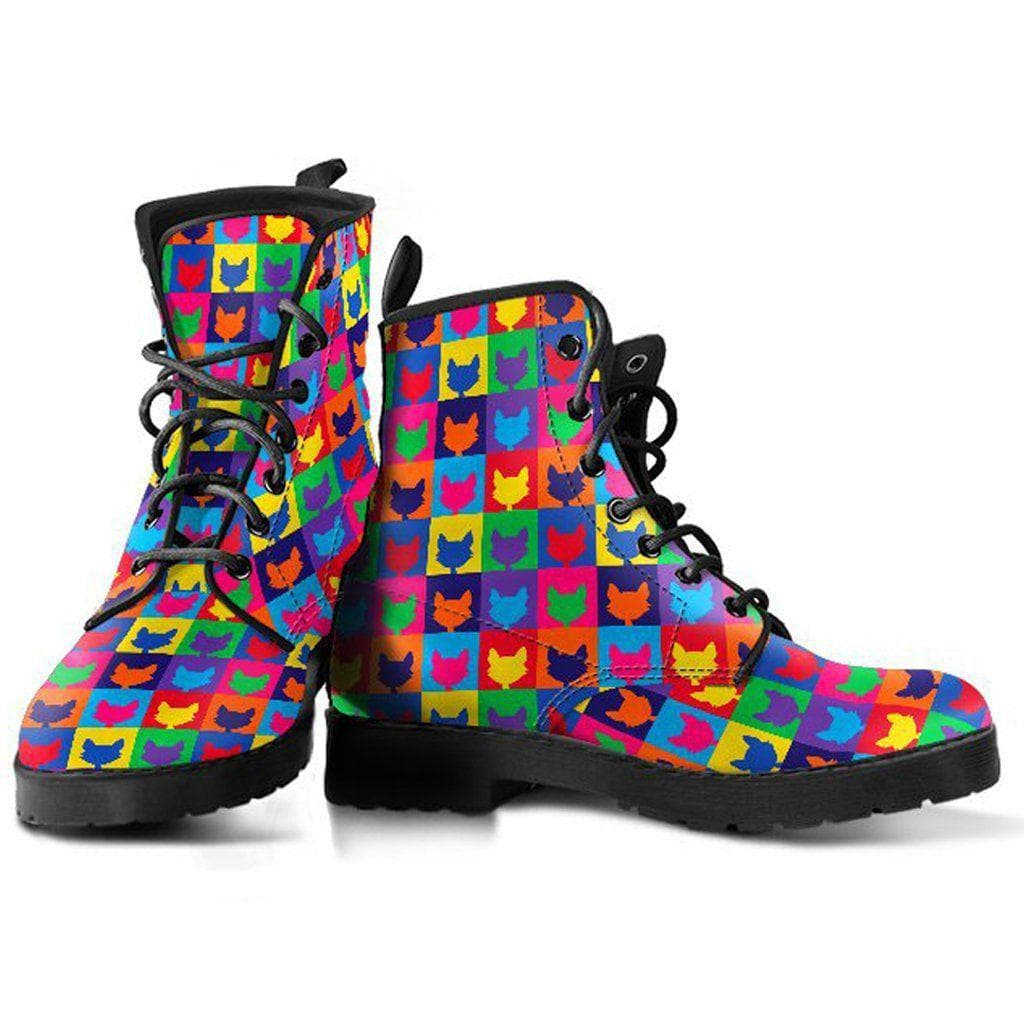 Colorful Cats Pattern Women Boots DHL Express Shipping