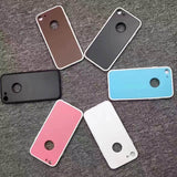 2 in 1 Shockproof 360 Full Body Phone Cases For iphone 7 6 6S Plus Funda Fashion Soft TPU Silicone Case + Splice Colorful Cover