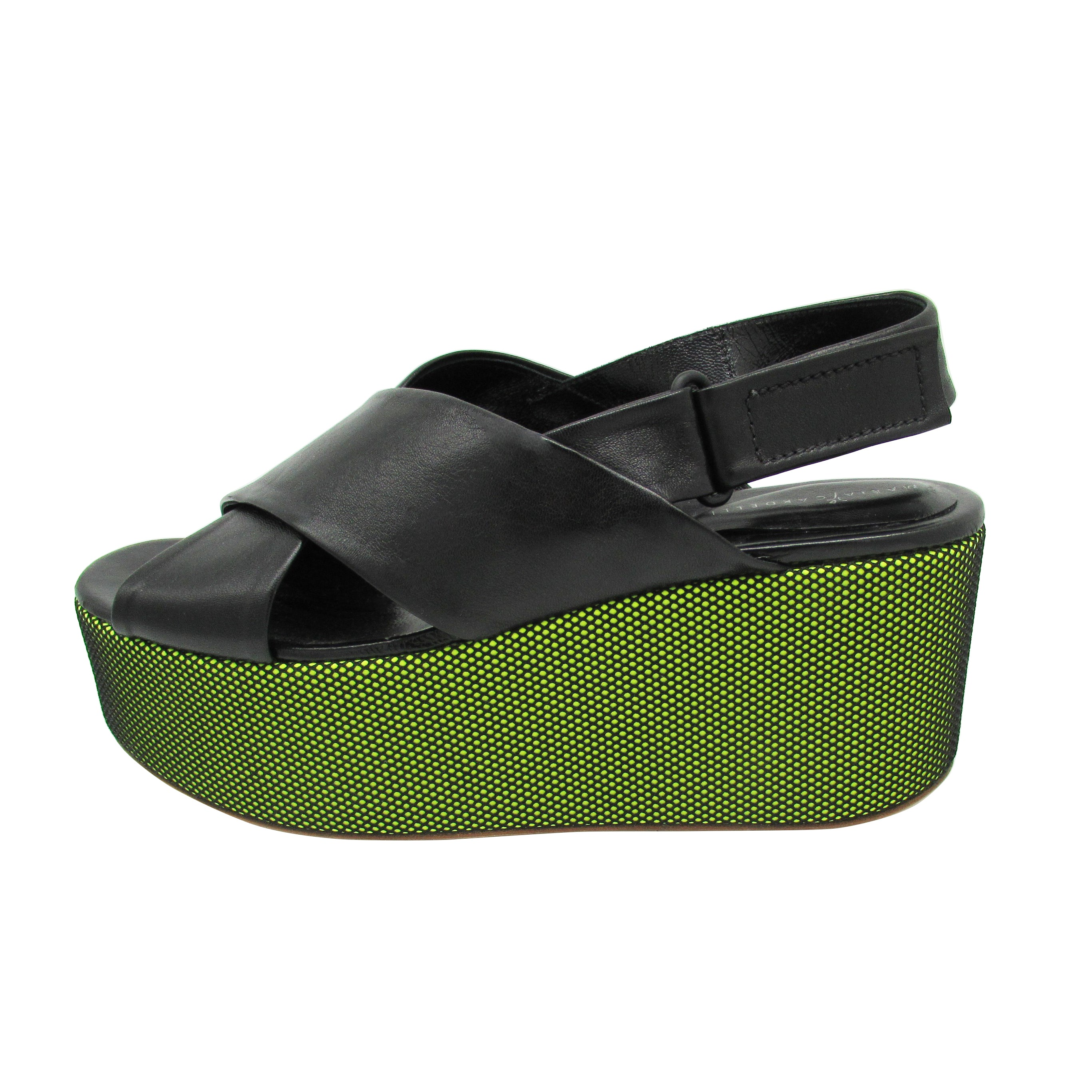 Funk sandals Neon Green - Wholesale Price - Maria Cardelli Fashion Accessories