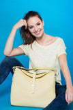 Perforated Hobo Sky or Yellow - Maria Cardelli Fashion Accessories