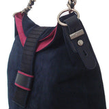 Suede and Calf Hair Hobo - Maria Cardelli Fashion Accessories