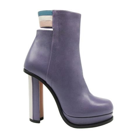 Stripes Bootie - OUT OF STOCK - Maria Cardelli Fashion Accessories