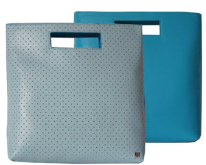 Perforated Fold It Blue - Maria Cardelli Fashion Accessories