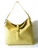 Perforated Hobo Yellow - Maria Cardelli Fashion Accessories