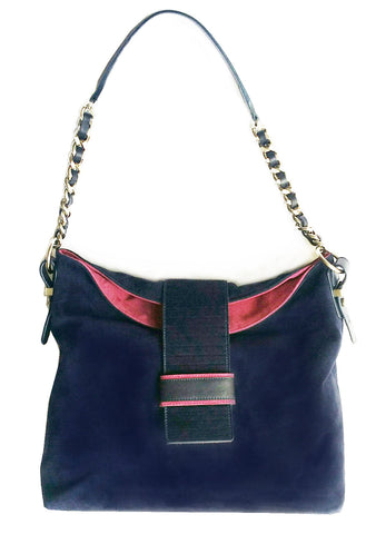 Suede and Calf Hair Hobo