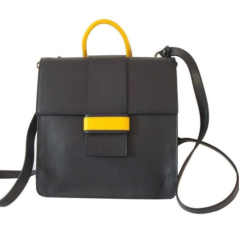 Back Up Navy-Yellow - Maria Cardelli Fashion Accessories