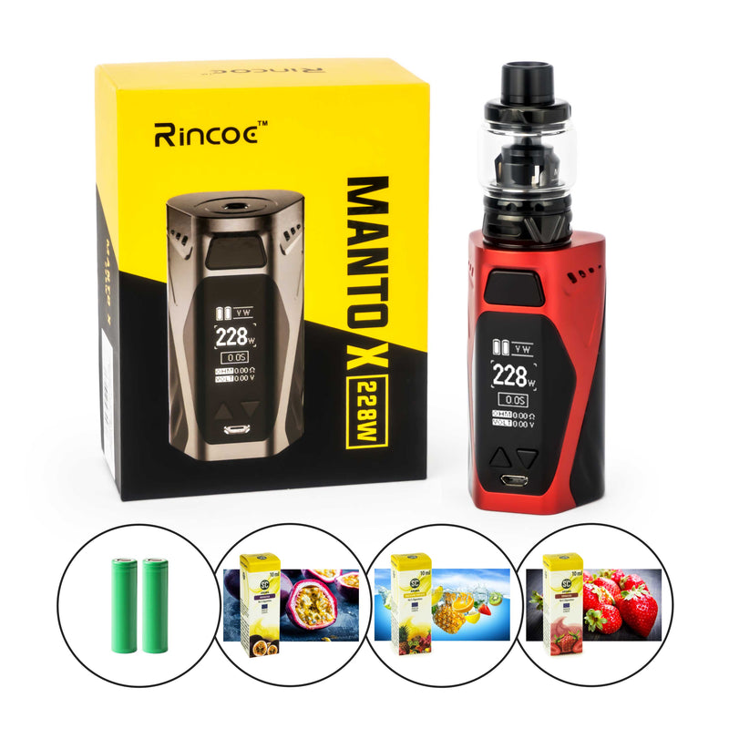 Rincoe - Manto X Kit inkl. Uwell Crown 4 (6 ml) - E-Zigarette