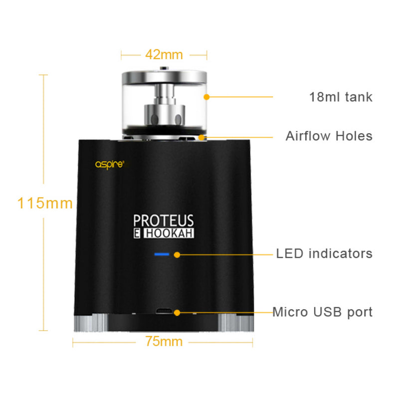Aspire - Proteus V 1.1 Kit (18 ml) 2 x 2500 mAh - E-Shisha