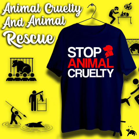 Animal Cruelty and Animal Rescue T-shirts