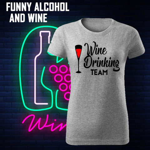 FUNNY ALCOHOL AND WINE T-SHIRTS