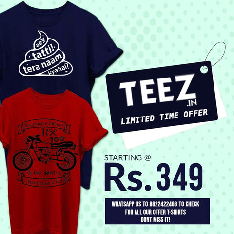 T-shirts Under 349 Rs on Sale India !
