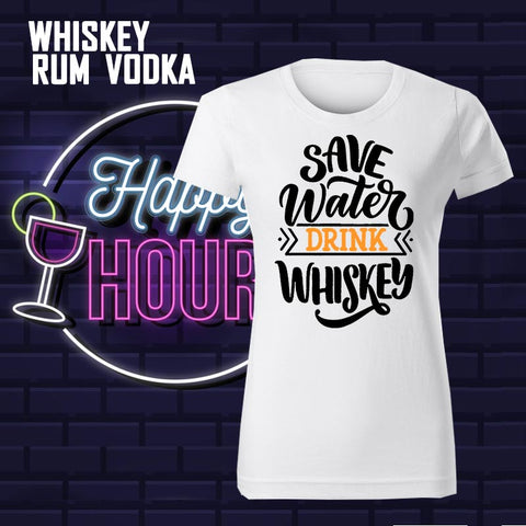 WHISKY – RUM – VODKA FUNNY T-SHIRTS