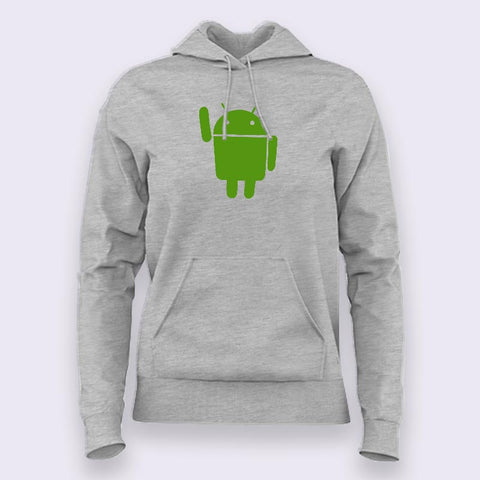 Android Mascot Hoodies For Women Online India